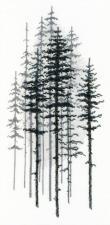 Туманный лес. Размер - 15 х 29,5 см.