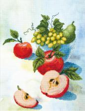 Акварельные яблочки. Размер - 20 х 26 см.
