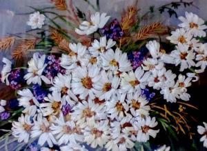 Полевые цветы. Размер - 29 х 21 см.