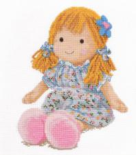 Кукла Маша. Размер - 19 х 25 см.