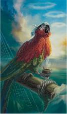 Попугай Флинта. Размер - 17 х 29 см.
