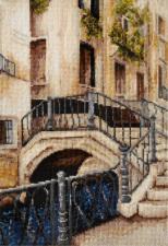 Венецианский мостик. Размер - 19,4 х 27,3 см.