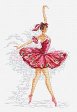 Грация балета. Размер - 17,5 х 25,5 см.