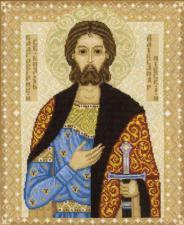Св. князь Александр Невский. Размер - 29 х 35 см.
