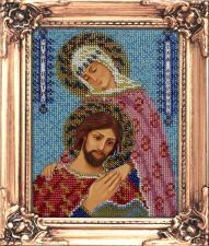 Икона Святые Петр и Феврония. Размер - 12 х 16 см.