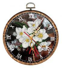 """Часы """"Ромашки"""". Размер - диаметр 18 см."""