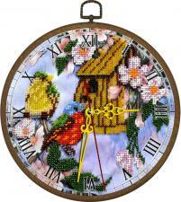 """Часы """"Птичий дом"""". Размер - диаметр 18 см."""