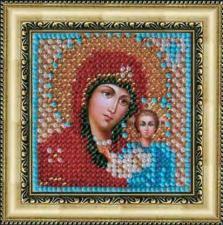 Икона Божья Матерь Казанская(с акрил. рамкой).  Размер - 6,5 х 6,5 см.