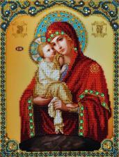 """Икона Божией Матери """"Почаевская"""". Размер - 21,5 х 28,5 см."""