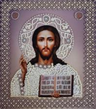 Венчальная пара.Икона Христа Спасителя(серебро).