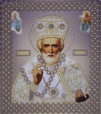 Икона Св.Николай Чудотворец(серебро).