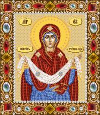Покров Пресвятой Богородицы. Размер - 13 х 15 см.