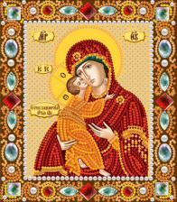 Богородица Владимирская. Размер - 13 х 15 см.