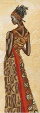 Девушка из Намибии. Размер - 16 х 52 см.