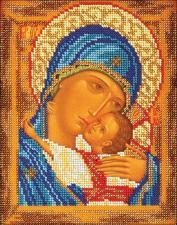 Богородица Умиление. Размер - 18 х 22 см.