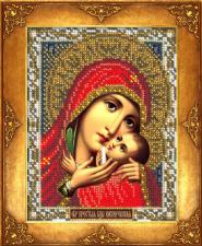 Богородица Касперовская. Размер - 12,5 х 16,3 см.