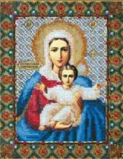 Богородица Леушинская. Размер - 17,8 х 22,8 см