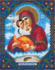Богородица Почаевская. Размер - 17,2 х 21,6 см.