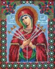 Богородица Умягчение злых сердец. Размер - 17,5 х 22 см.