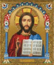 Икона Господа Вседержителя. Размер - 20,3 х 23,5 см.