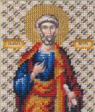 Икона апостол Пётр. Размер - 9 х 11 см.