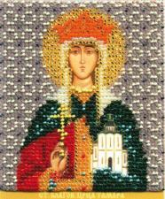 Икона Св.Блг.царица Грузии Тамара. Размер - 9 х 11 см.
