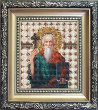 Икона св. апостол Андрей Первозванный. Размер - 9 х 11 см.