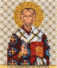 Икона св. Геннадий. Размер - 9 х 11 см.