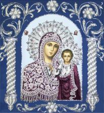 Богородица Казанская в рамке. Размер - 34 х 38 см.