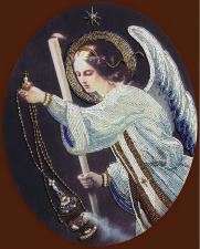 Ангел молитвы. Размер - 27,5 х 34,5 см.
