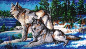 Волки 2. Размер - 53 х 31 см.