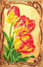 Бархатные тюльпаны. Размер - 17 х 26 см.