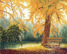 Осенняя зарисовка. Размер - 32 х 25 см.