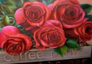 Прекрасные розы. Размер - 50 х 35 см.