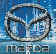 Mazda. Размер - 15 х 15 см.