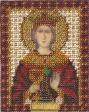Икона Св. Вмч. Варвара. Размер - 8,5 х 10,5 см.