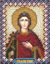 Икона Св. Вмч. Ирина. Размер - 8,5 х 10,5 см.