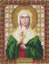 Икона Св. мч. Дарья. Размер - 8,5 х 10,5 см.