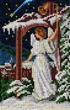 Рождественский ангел. Размер - 9,8 х 15,4 см.