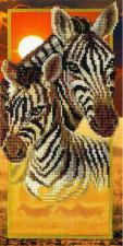 Зебры. Размер - 15 х 30 см.