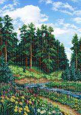 Лес. Размер - 25 х 35 см.