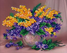 Музыка цветов. Размер - 33 х 27 см.