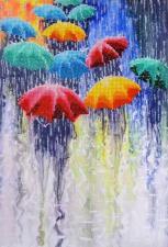 Весёлые зонтики. Размер - 24 х 35 см.