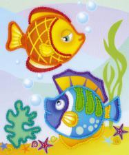 Морские рыбки. Размер - 15 х 18 см.