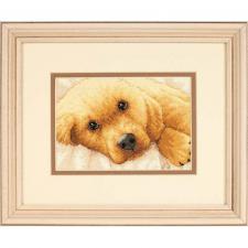 Золотой щенок. Размер - 18 х 13 см