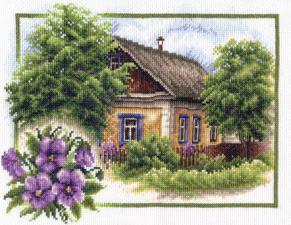 Лето в деревне. Размер - 25 х 20 см.