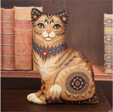 Кошка. Размер - 34,5 х 46,5 см.