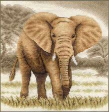Слоны.Великан. Размер - 19 х 19,5 см.