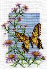 Бабочка.Махаон. Размер - 13 х 19 см.