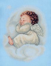 Спящий ангел. Размер - 20 х 26 см